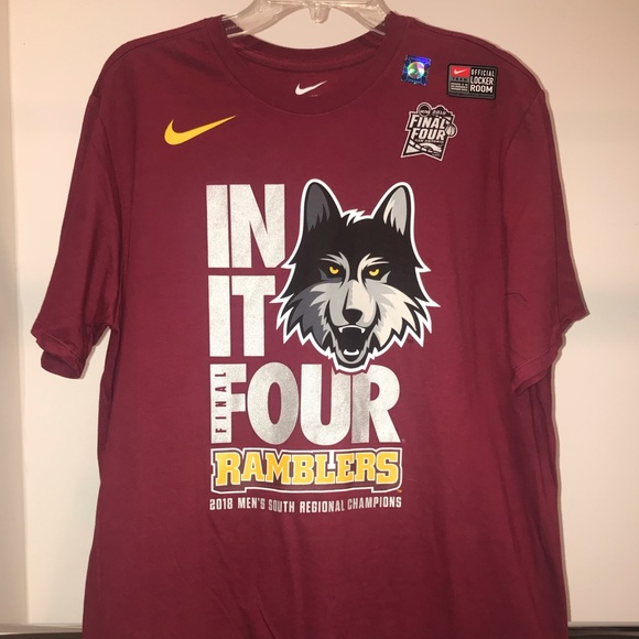 reputable site 1c359 b47c8 Nike Loyola Final Four Official NCAA Large T-Shirt
